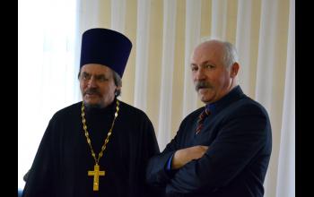 Отец Георгий и Сергей Владимирович Морозов